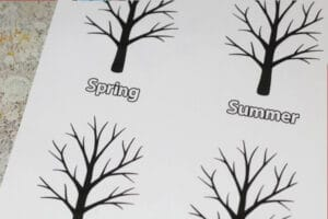 free four seasons tree template printable