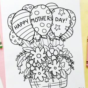free mothers day colouring sheet 300