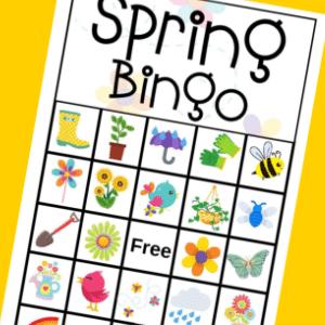 free printable spring bingo 300