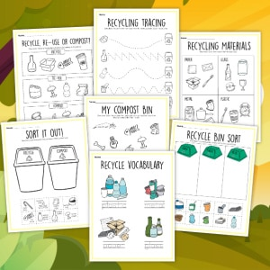 recycling printables 300