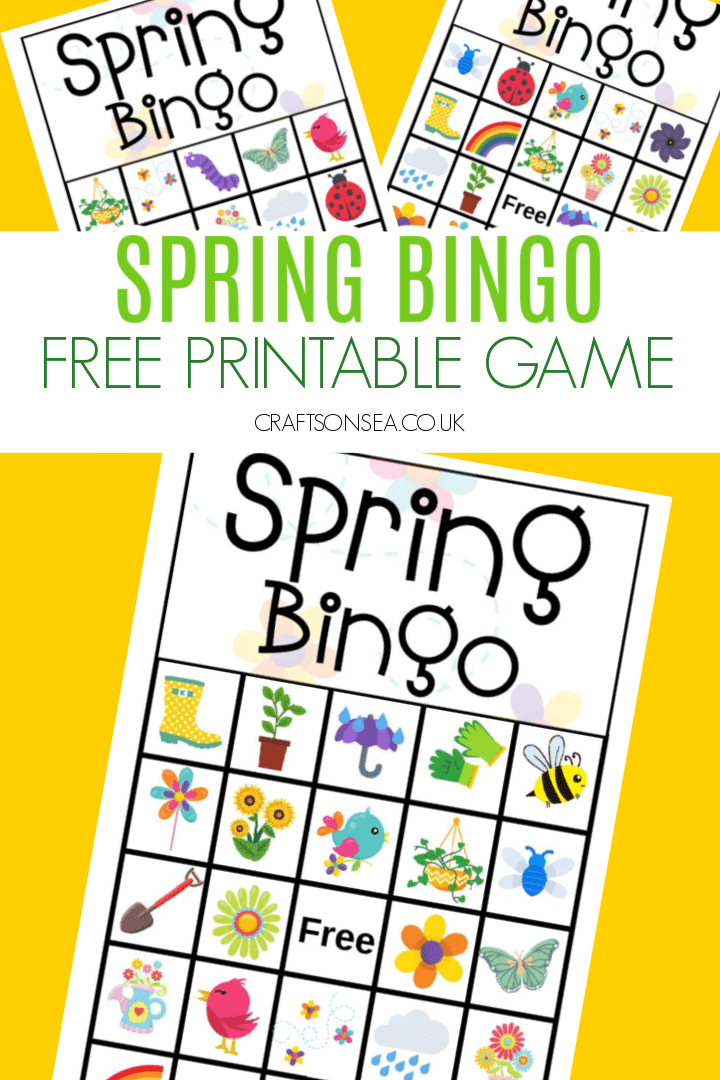 spring bingo game printable free