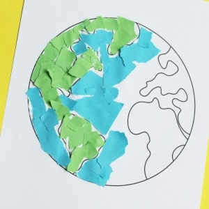 torn paper earth day craft 300