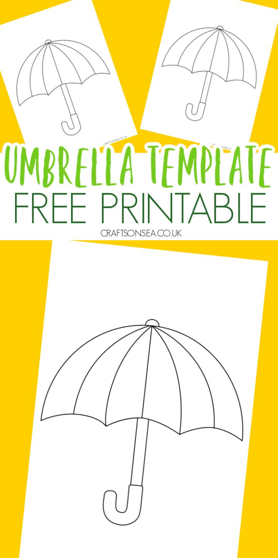 umbrella template free printable pdf