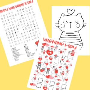 valentines activity pack cat 300