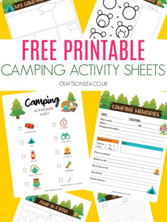 camping activity sheets free printable