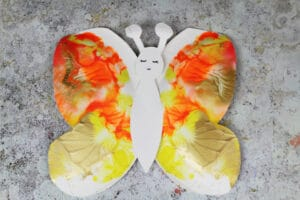 how to make a paper plate butterfly for kids