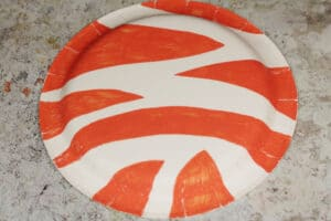 paper plate cat orange stripes