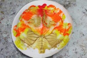 paper plate paint splat