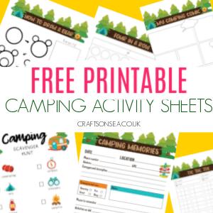 camping activity sheets 300