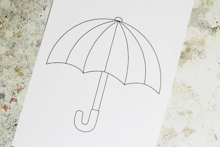 free template for rain art