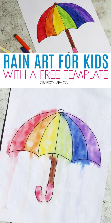 rain art for preschoolers