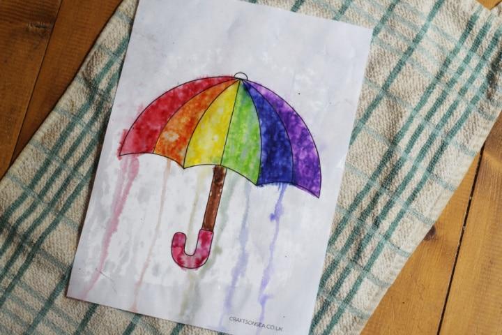 rain art weather activity for kids