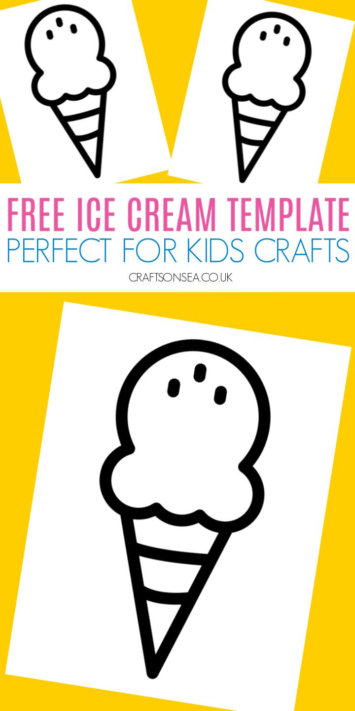 ice cream template free printable