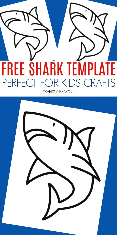 shark template printable free