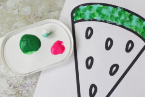 watermelon craft paint