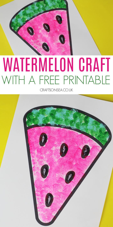 watermelon craft printable