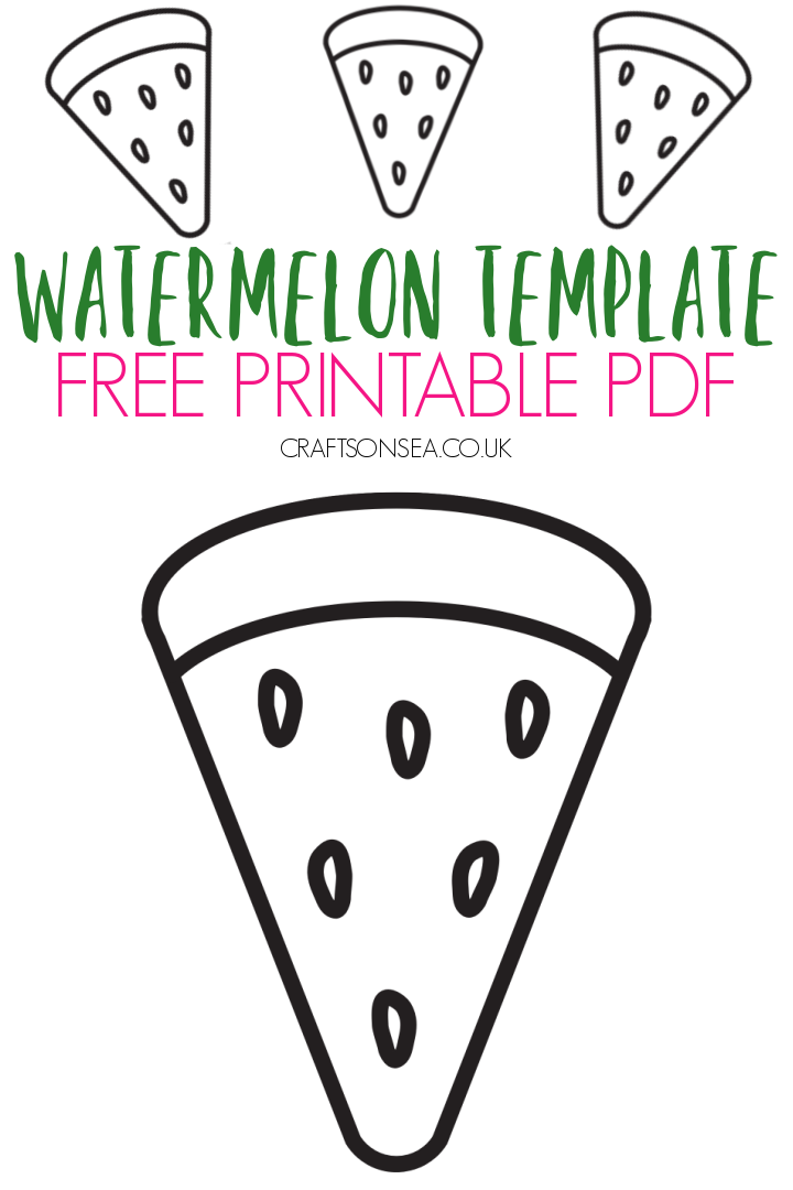 watermelon template printable PDF