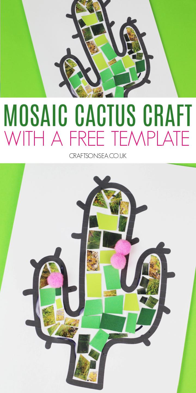 Cactus craft for kids preschool