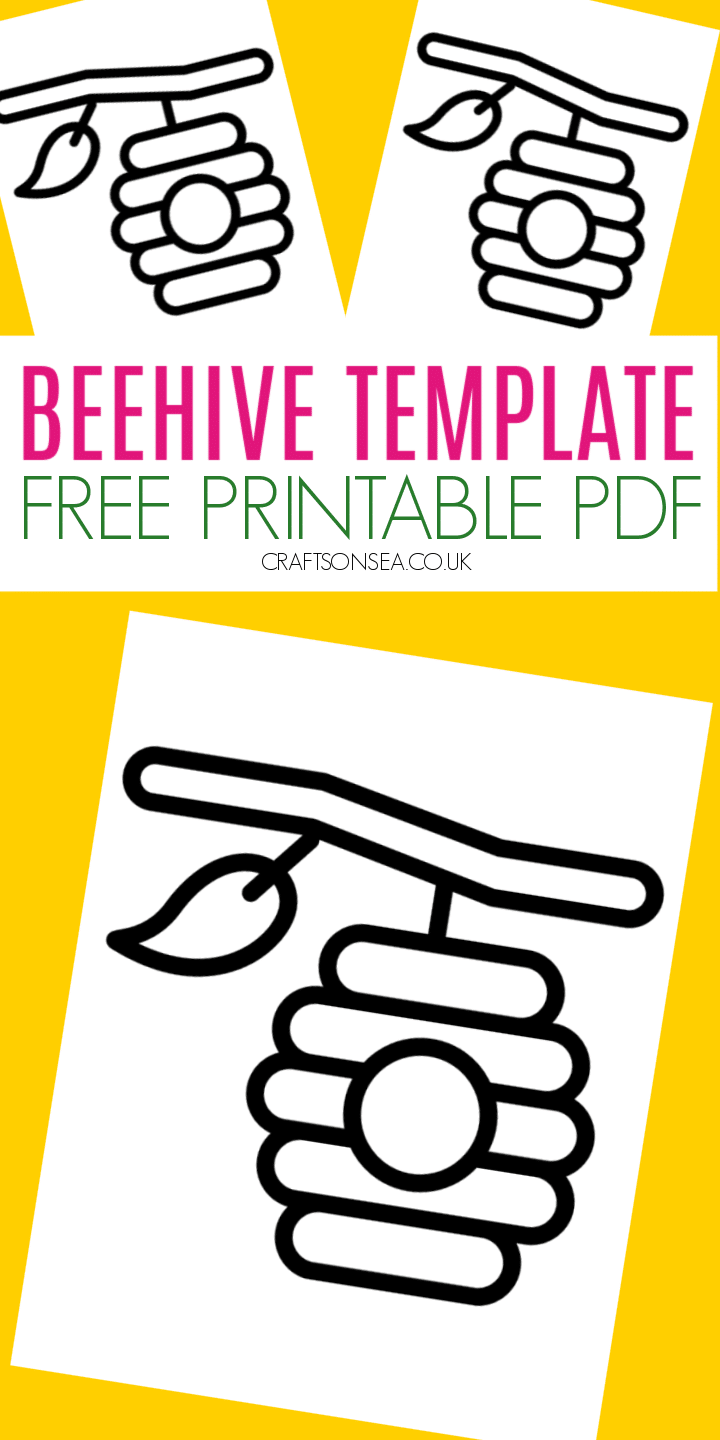beehive template free printable pdf for kids crafts