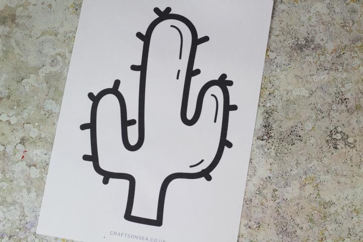 cactus craft printable