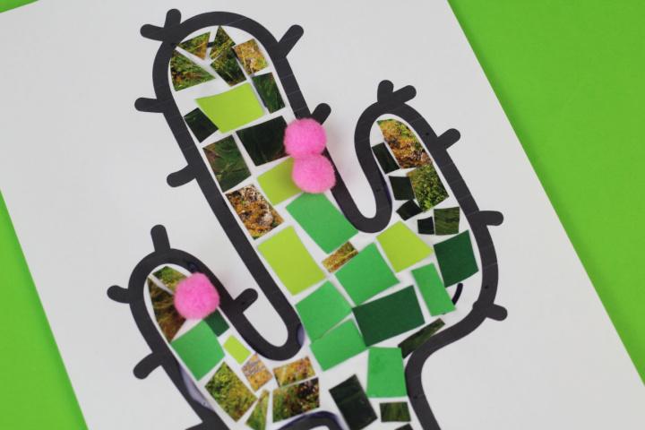 modèle d'artisanat de cactus