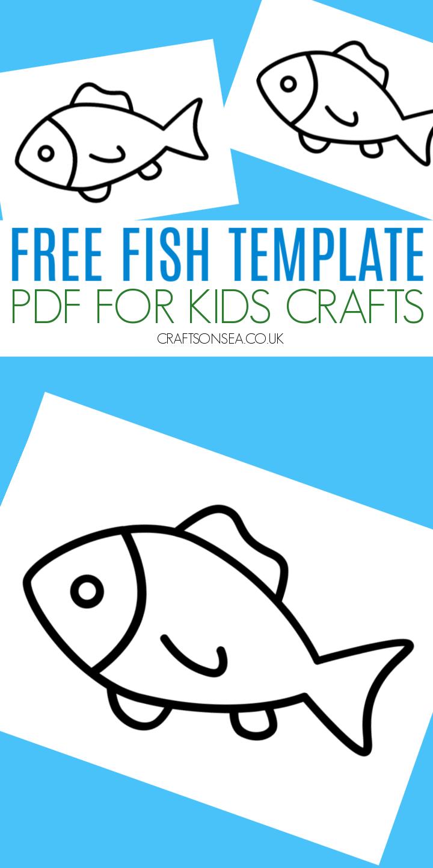 free fish template printable pdf kids crafts
