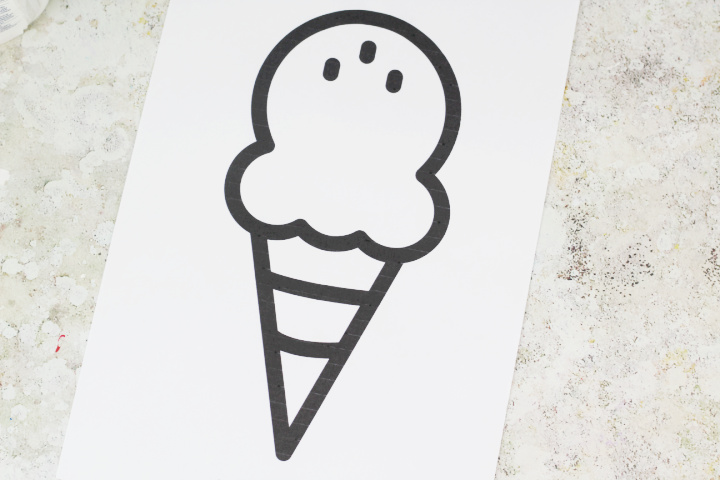 ice cream craft template pdf