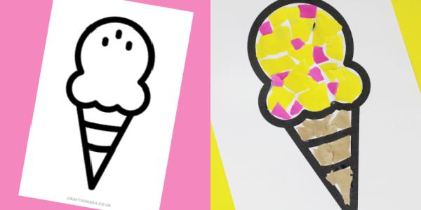 ice cream template craft 300