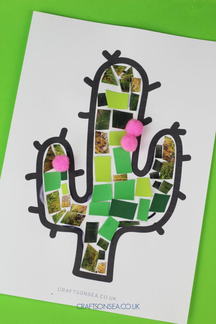 mosaic cactus craft