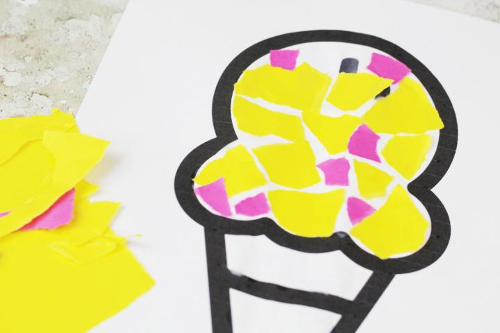 paper ice cream craft