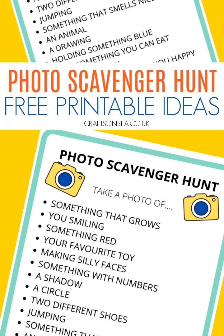 photo scavenger hunt ideas
