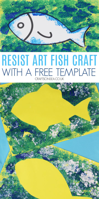 resist art fish craft