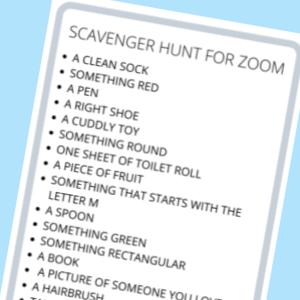 scavenger hunt zoom