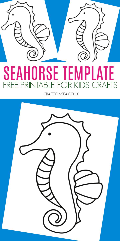 seahorse template to print free