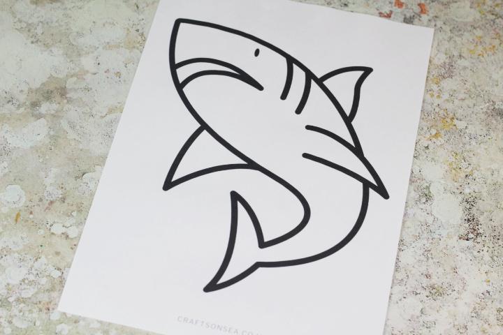 shark craft template