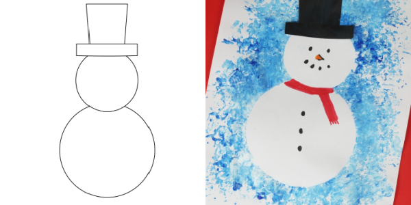 snowman template craft 300