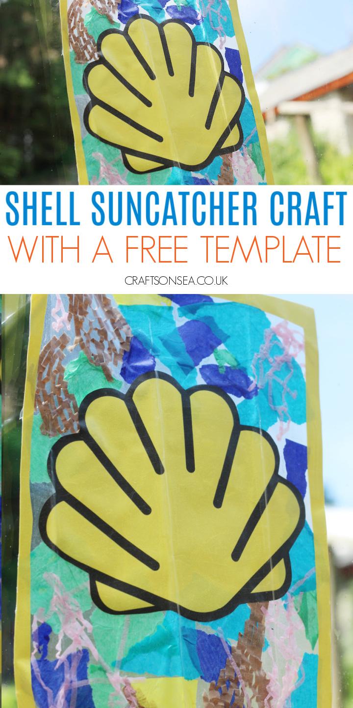 tissue paper suncatcher shell template