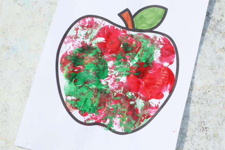 apple craft for kids painting
