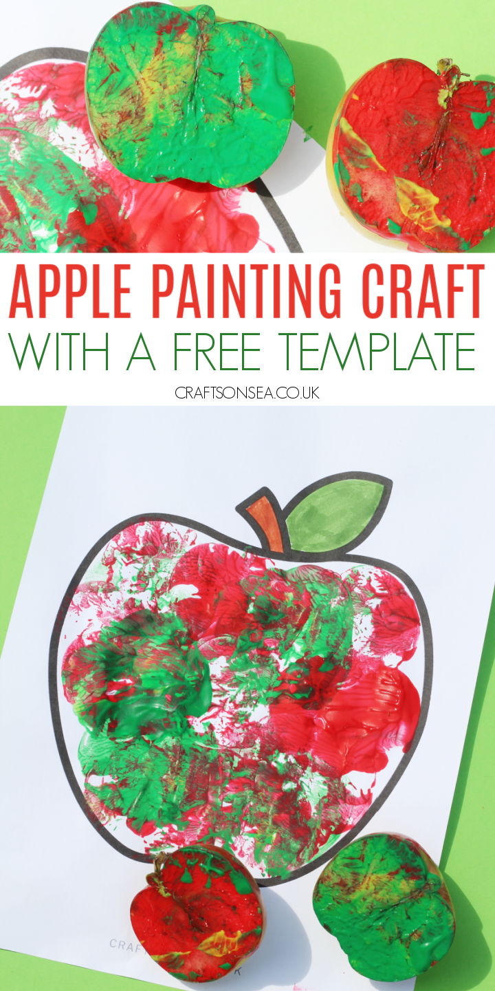 apple painting for kids free template