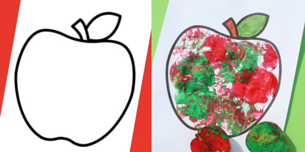 free apple template for kids crafts