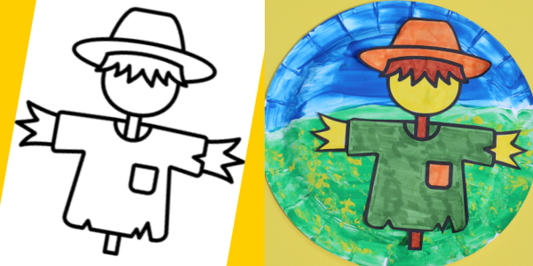 free scarecrow template and craft