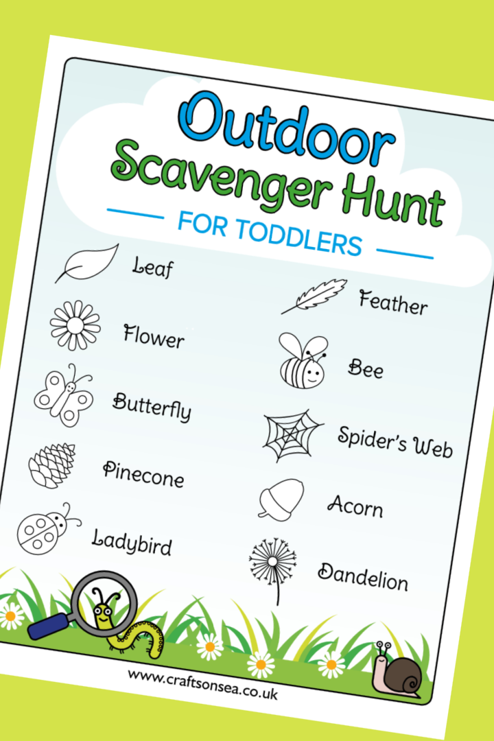 outdoor scavenger hunt for toddlers printable pdf