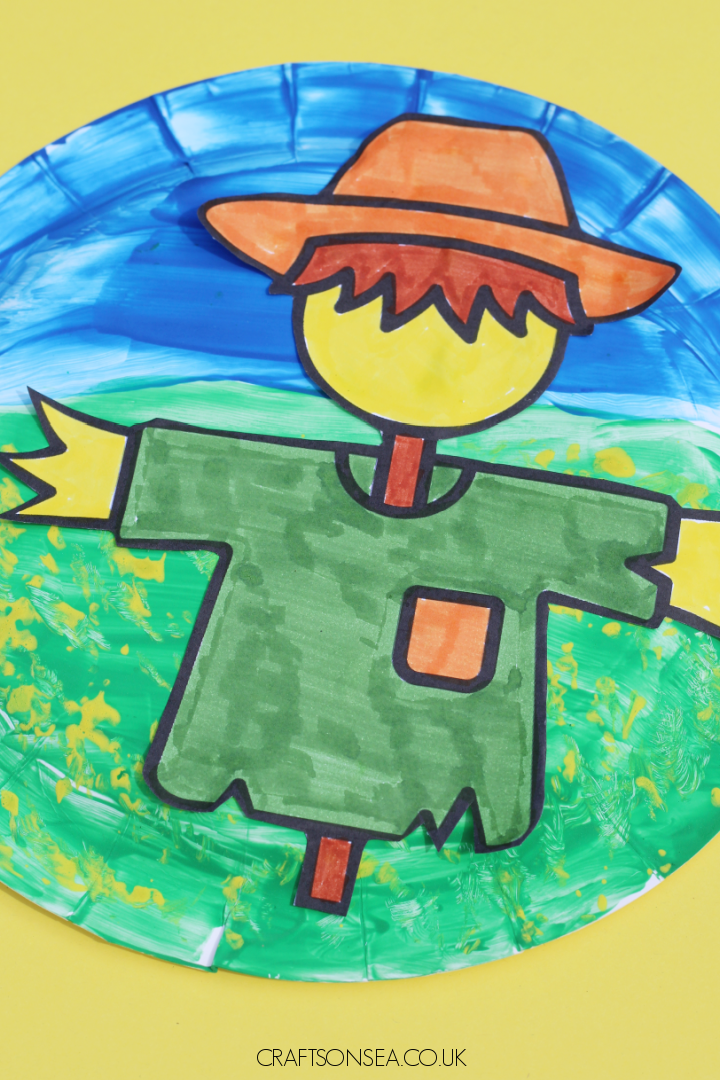 paper plate scarecrow craft for kids