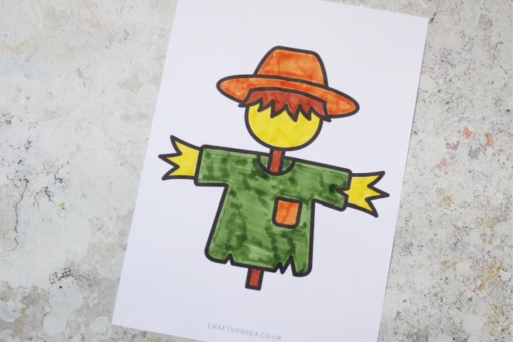 scarecrow template colouring