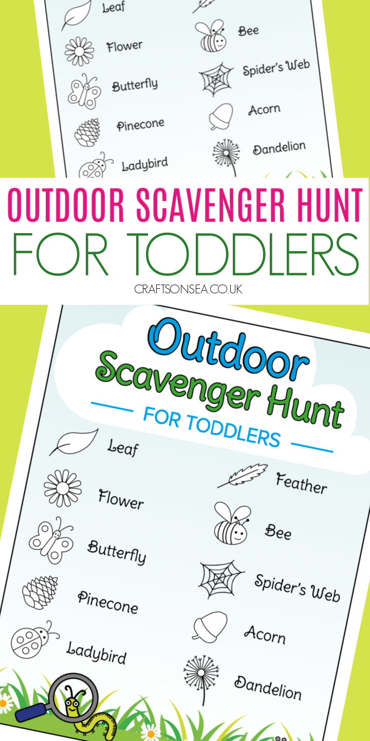 scavenger hunt ideas for toddlers outdoor PRINTABLE pdf