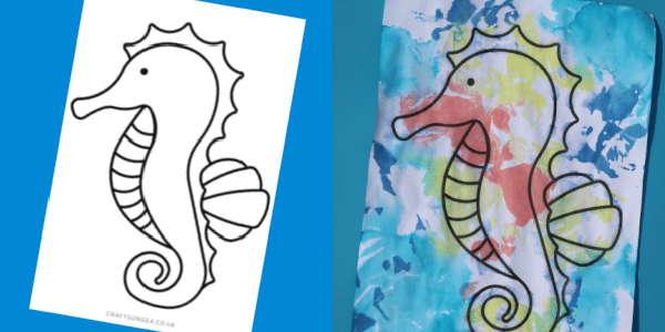 seahorse craft template