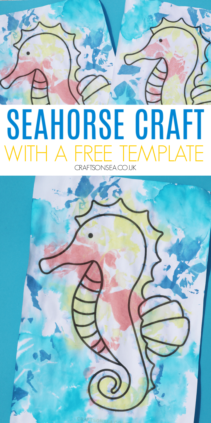 seahorse craft with a free template