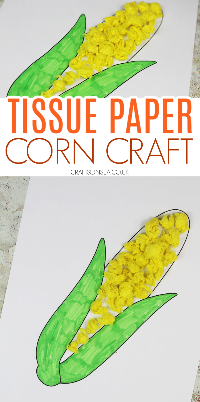 corn craft for kids tissue paper