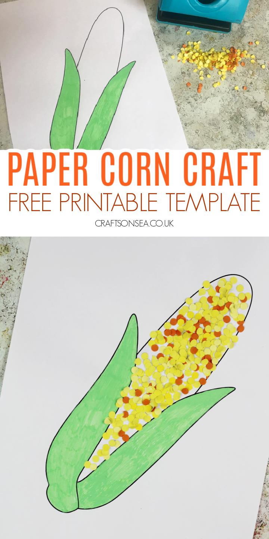 corn craft for kids