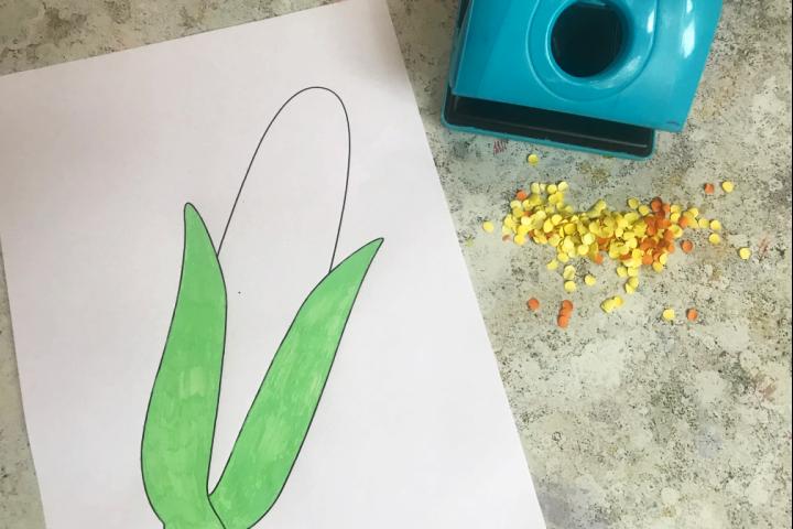 corn craft paper